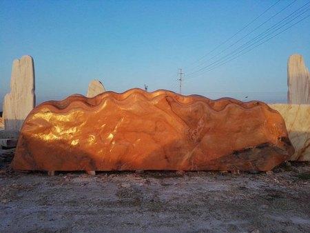 9.6米超长晚霞红自然石